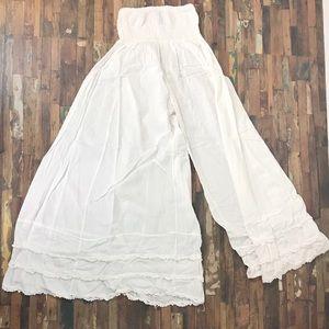 Lagonlook long wide leg bloomers pants One Size
